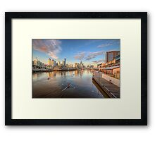 River Rowers Framed Print