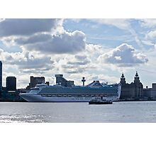 Caribbean Princess Pier Head Photographic Print