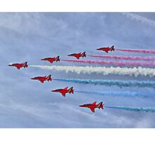 Ohhhh Look ! Red White And Blue Smoke !! Photographic Print