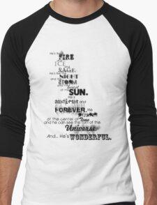 He's Wonderful! Men's Baseball ¾ T-Shirt
