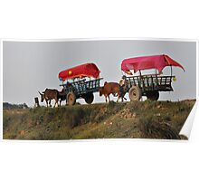 Two wagons Poster