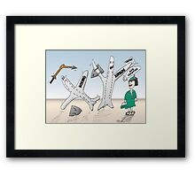 Airbus champion de Cathay Pacific Framed Print