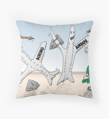 Airbus champion de Cathay Pacific Throw Pillow