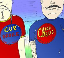 La Chine contre l'Europe en caricature by Binary-Options