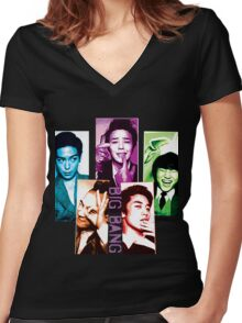 Big Bang  Women's Fitted V-Neck T-Shirt