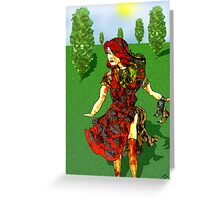Tree Lined escape Greeting Card