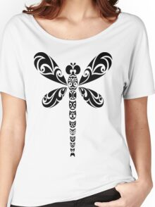 Tribal Dragonfly Tattoo Women's Relaxed Fit T-Shirt