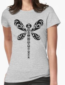 Tribal Dragonfly Tattoo Womens Fitted T-Shirt