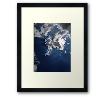 Passing Clouds Framed Print