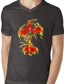 Phoenix Fire Mens V-Neck T-Shirt