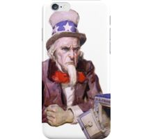 Uncle Sam with Empty Treasury iPhone Case/Skin