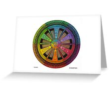 Mandala 43 drawing rainbow 1 Greeting Card