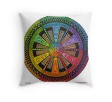 Mandala 43 drawing rainbow 1 Throw Pillow
