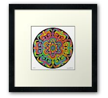 Mandala 31 drawing rainbow 1 Framed Print