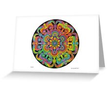 Mandala 31 drawing rainbow 1 Greeting Card