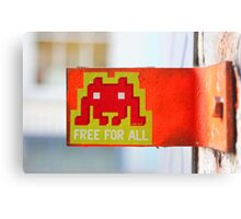 London Street Art - MacDonalds very own Space Invader Canvas Print