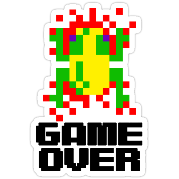 Frogger - Game Over by eaaasytiger