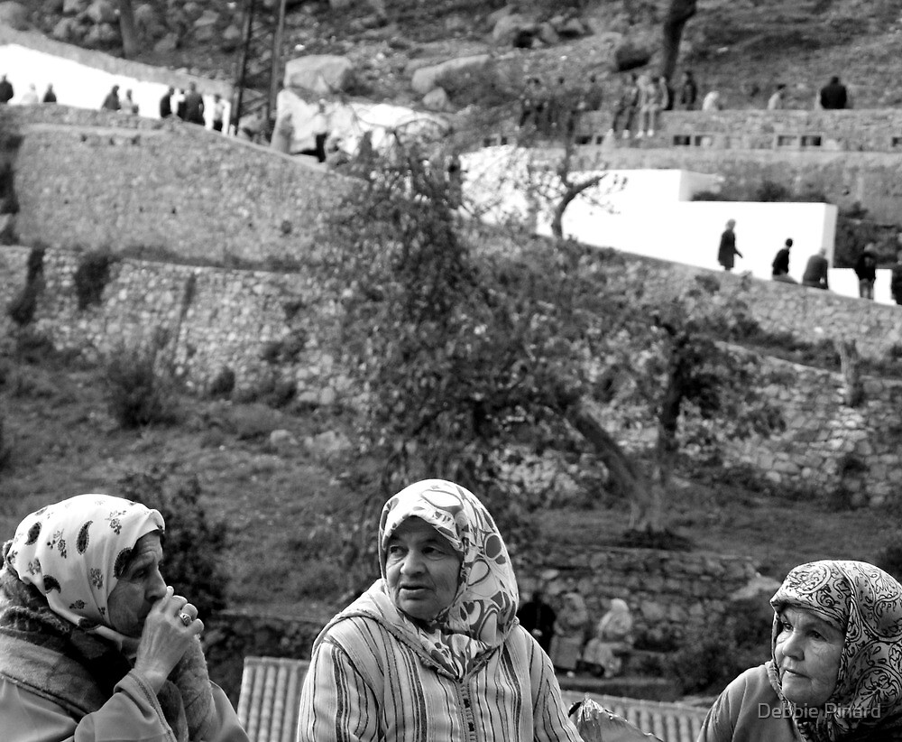 3 Ladies - Chefchauen Morocco by Debbie Pinard