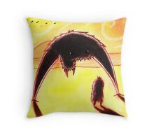Confrontation at Sunset. Throw Pillow