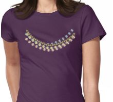 colorful beaded necklace t-shirt Womens Fitted T-Shirt