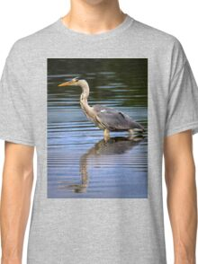Grey Heron reflection Classic T-Shirt