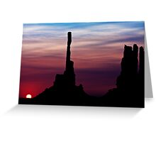 Sun dawns at Totem Pole Greeting Card