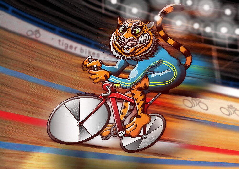 Olympic Cycling Tiger by Zoo-co