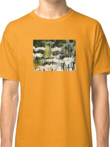 A Garden of White Daisy Flowers Classic T-Shirt