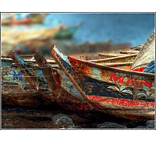 Tema Boats Aligned Photographic Print