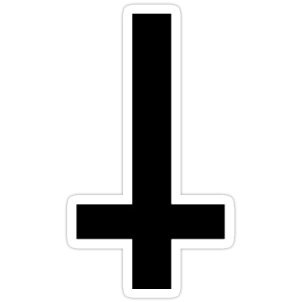 inverted cross (black) by Rowlz