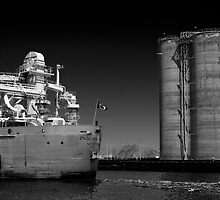 The freighter English River by Jim Butera
