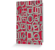 picture frames aplenty red bone Greeting Card