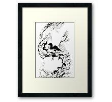 Bear lie Framed Print