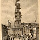 Historic engraving of the Market Place, Trowbridge, Wiltshire by Trowbridge  Museum