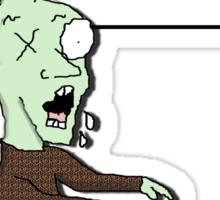 Bath salt zombie Sticker
