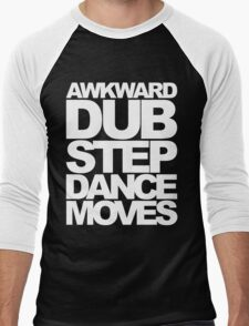 Awkward Dubstep Dance Moves (white) Men's Baseball ¾ T-Shirt