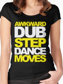 Awkward Dubstep Dance Moves (yellow/white) Women's Fitted Scoop T-Shirt
