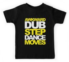 Awkward Dubstep Dance Moves (yellow/white) Kids Tee