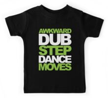 Awkward Dubstep Dance Moves (neon/white) Kids Tee