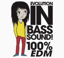 Evolution In Bass Sound 100% (black) Kids Tee