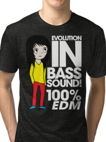 Evolution In Bass Sound 100%  Tri-blend T-Shirt
