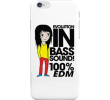 Evolution In Bass Sound 100%  iPhone Case/Skin