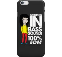 Evolution In Bass Sound 100% (black) iPhone Case/Skin