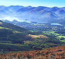 Keswick and Derwent Water, Cumbria, UK. by GeorgeOne