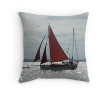 Red Sails without the Sunset Throw Pillow