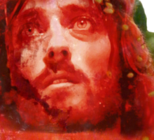Jesus' Face In A Strawberry Sticker