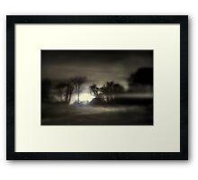 Misty Morning Sunrise Framed Print