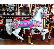 Carousel Pony Photographic Print