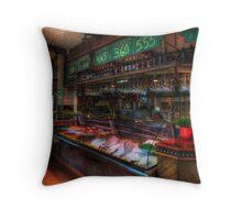 Seafood Bar Throw Pillow