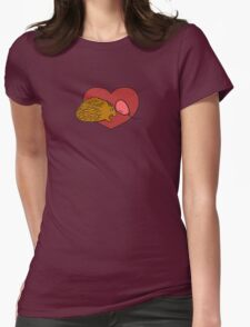 Spiny Porcupine Womens Fitted T-Shirt
